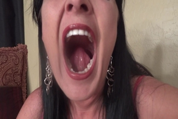 Mouth fetish teeth woman tongue fillings