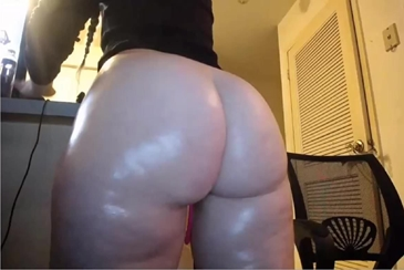 Oil oily pawg whooty oiled thong stockings