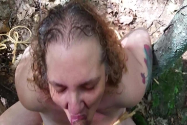 Spanish girl tied to tree and fucked double
