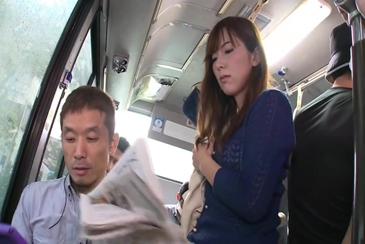 Uncensored molested stripped on bus train