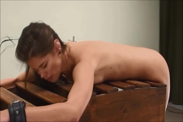 Whipping breasts caprice torture spanking machine